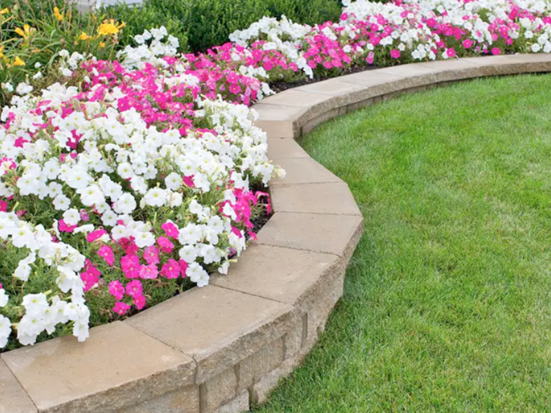 Landscape flower edging